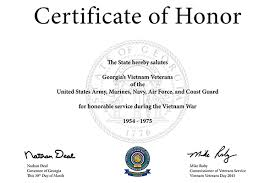 Vietnam Veterans Recognition | Georgia Department Of Veterans Service