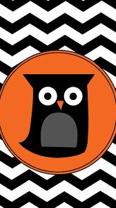 cartoon owl and chevron pattern iphone 6 plus wallpaper personalized orange circle iphone
