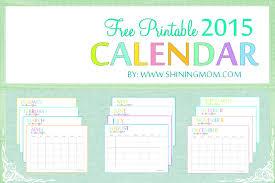 2015 Free Printable Calendar Free 2015 Printable Calendar Shiningmom