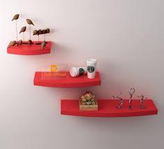 Curved Floating Shelves
