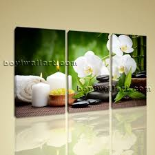 wall art contemporary orchid flower home decor feng shui hd print