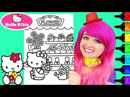 Click a picture to begin coloring. Coloring Hello Kitty Birthday Coloring Book Page Prismacolor Colored Paint Markers Kimmi The Clown Youtube