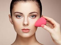 the beauty blender can be used to apply makeup eye serums and night creams