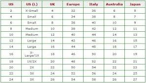 Size Chart Angel Brinks