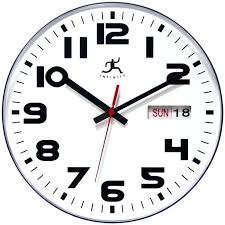 decoration infinity instruments day date x in wall clock with a shatter resistant lens and