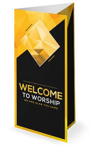 Pastor Appreciation Church Trifold Bulletin Template Tri