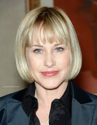 Hairstyles With Blunt Fringe Patricia Arquette Professional Look With A Short Bob Hairstyle