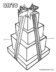Small Picture Gift Box Coloring Page Gift Wrapped Present Coloring Page Coloring