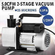 refrigerator vacuum pump. 5cfm vacuum pump 2-stage 1/2 hp rotary refrigerant food processing refrigerator