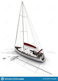Model Sailboat Design Sailboat Design Stock Illustration Illustration Of