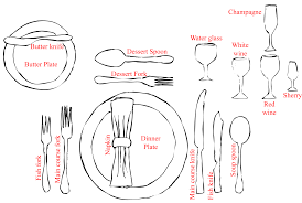 fine dining table setting diagram. formal dinner setting fine dining table diagram