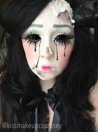 broken ed doll makeup