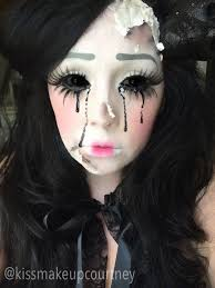 broken ed doll makeup
