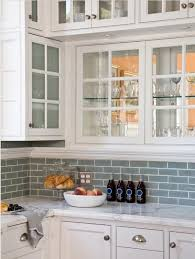 glass subway tile backsplash white cabinets white cabinets with frosted glass blue subway tile kitchen