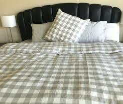 linen duvet cover king check plaid duvet cover in twin full queen king size linen house
