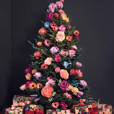 Paper Flower Christmas Tree 9 Gorgeous Floral Christmas Trees Better Homes Gardens
