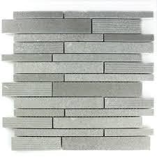 Marmor Mosaik Fliesen Stäbchen Gefräst Poliert Grau - LZ69273m
