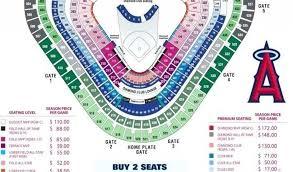 Anaheim Stadium Seat Chart Angel Stadium Map Seating Kansas
