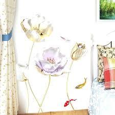 vintage fl wall decals flower home decor personalised self adhesive bedroom metal art hobby lobby