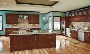 Blue Kitchens With Brown Cabinets blue kitchen cabinets with