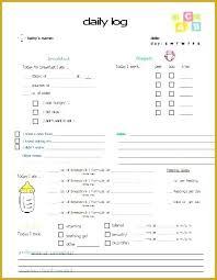 Nanny Log Sheet Templates Senetwork Co