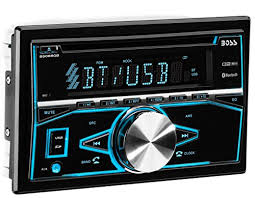 """boss audio systems 850brgb boss audio bluetooth double din mp3 cd """"listen to all your favorite music the boss audio 850brgb double din cd mp3 player slide in a cd connect your smartphone or mp3 player to the"""