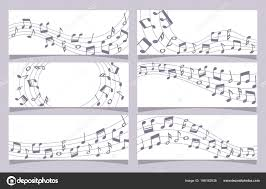 Stave Music Music Note Banner Stave Music Notes Banner Collection