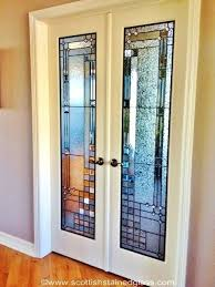 clear glass interior door slab with panel