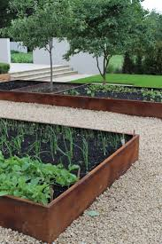metal edging for gardens landscaping ideas surprising ways to use cor ten steel in garden beds