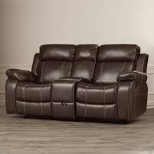 best recliner darby home co s chestnut double gliding reclining sofa