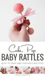 Diy Baby Rattle Cake Pops
