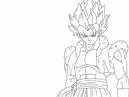 Dragon Ball Z Gogeta Coloring Pages#489403