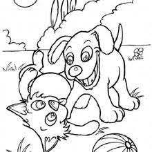 Small Picture Dogs family coloring pages Hellokidscom