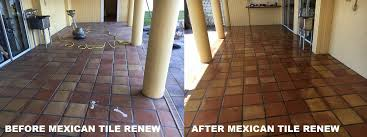 mexican tile renew project on outdoor deck tile at waterfront home in tierra verde south of st pete florida we remove old paint black scuff marks