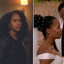 why does olivia pope only have natural hair in an imaginary universe