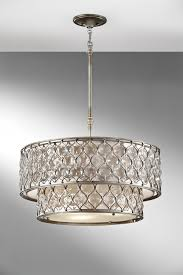 beauteous linen drum shade chandelier gallery for home tips remodelling awesome silver and crystal chandeliers feiss
