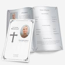 Download Funeral Program Templates Traditional Cross Funeral Pamphlets 18