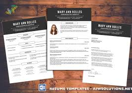 Template Resume Cv Template Cover Letter For Ms Word Creative