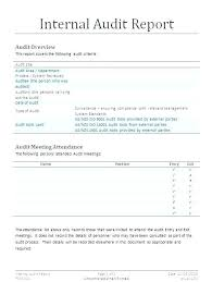 It Audit Report Template