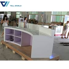 office counter design. Wholesale LED Front Office Counter Design Luxury Corian Round Reception Desk G