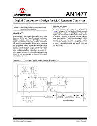 Resonant Converter Design An1477 Digital Compensator Design For Llc Resonant Converter