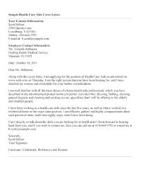 Cover Letter For Senior Healthcare Assistant Examples Letters