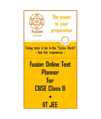 Class Planner Online Fusion Online Test Planner Cbse Class Xi Iit Jee Buy Fusion