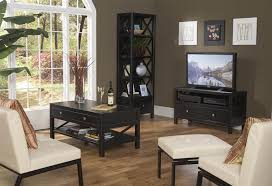 modern living room set with tv console bookcase coffee table com