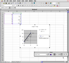 the graph is resize so that the data and the plot is shown on the excel worksheet