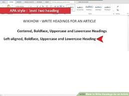 4 Ways To Write Headings For An Article Wikihow