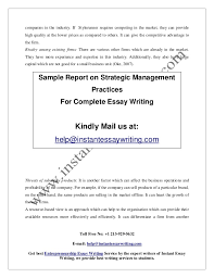 sample report on strategic management practices by instant essay writ   4