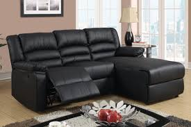 Black Leather Sectional Sofa With Recliner Amazoncom Black Bonded Leather Sectional Sofa With Single