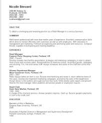 Resume Objective For Marketing Position Resume Letter Collection