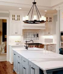White Stone Kitchen Backsplash Great Use Of The Lena Pattern From Artisan Stone Tile In The